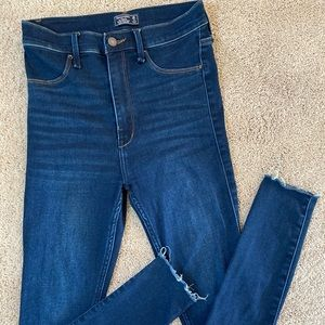 Abercrombie High Rise Jean Legging Dark Denim